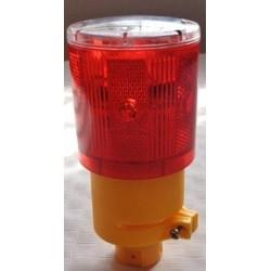 Luz de señal advertencia alimentación solar para mástil.