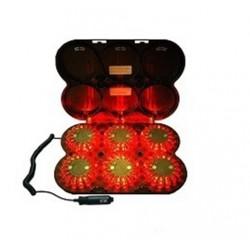 Maletín de luces de leds autónomo de señalización 24 LD